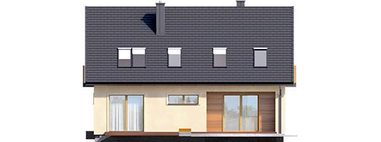 E11 III ECONOMIC - Projekt domu E11 III ECONOMIC - elewacja tylna