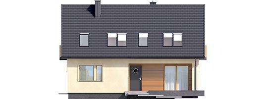 E11 III ECONOMIC - Projekt domu E11 III ECONOMIC - elewacja frontowa