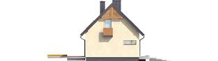 Projekt domu E11 III ECONOMIC - elewacja lewa
