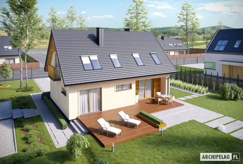 Projekt domu E11 III ECONOMIC - widok z góry