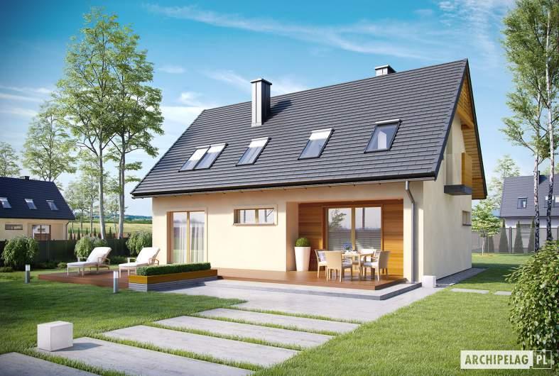 Projekt domu E11 III ECONOMIC - wizualizacja ogrodowa