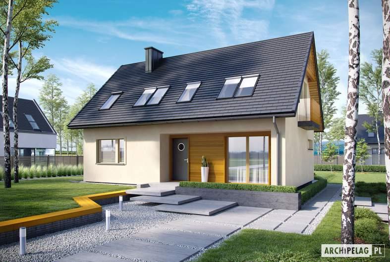 Projekt domu E11 III ECONOMIC - wizualizacja frontowa