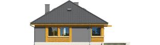 Projekt domu Anabela - elewacja tylna