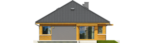 Projekt domu Anabela - elewacja lewa