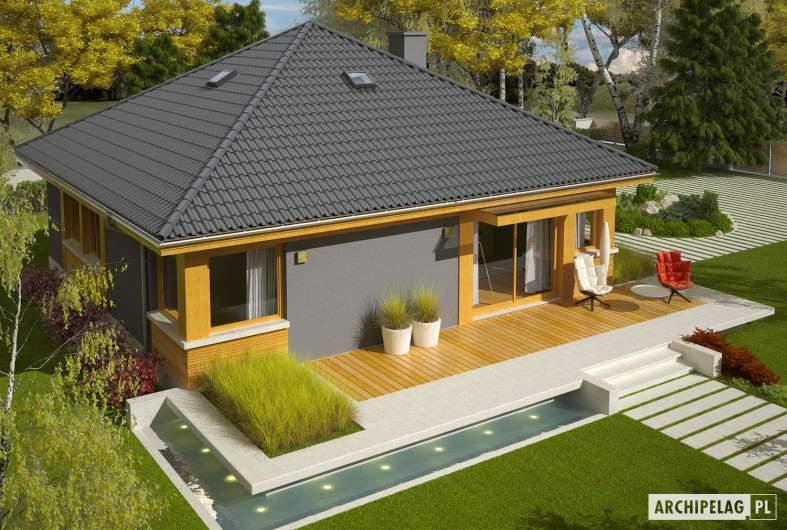 Projekt domu Anabela - Projekty domów ARCHIPELAG - Anabela - widok z góry