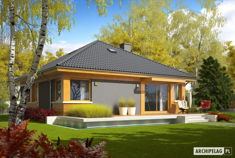 Projekt domu Anabela - Projekty domów ARCHIPELAG - Anabela - wizualizacja ogrodowa