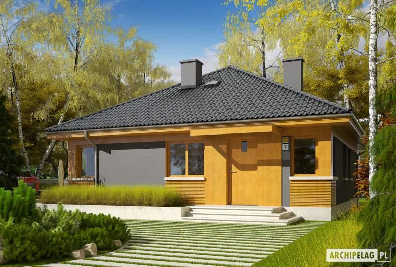 Projekt domu Anabela - Projekty domów ARCHIPELAG - Anabela - wizualizacja frontowa