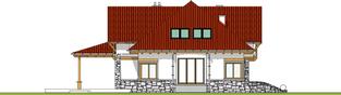 Projekt domu Edek - elewacja lewa