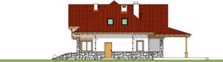 Projekt domu Edek - elewacja prawa