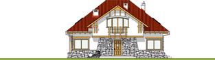 Projekt domu Edek - elewacja frontowa