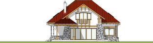 Projekt domu Edek - elewacja tylna