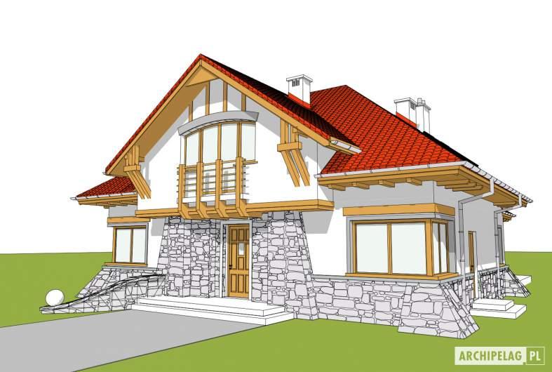 Projekt domu Edek - wizualizacja frontowa
