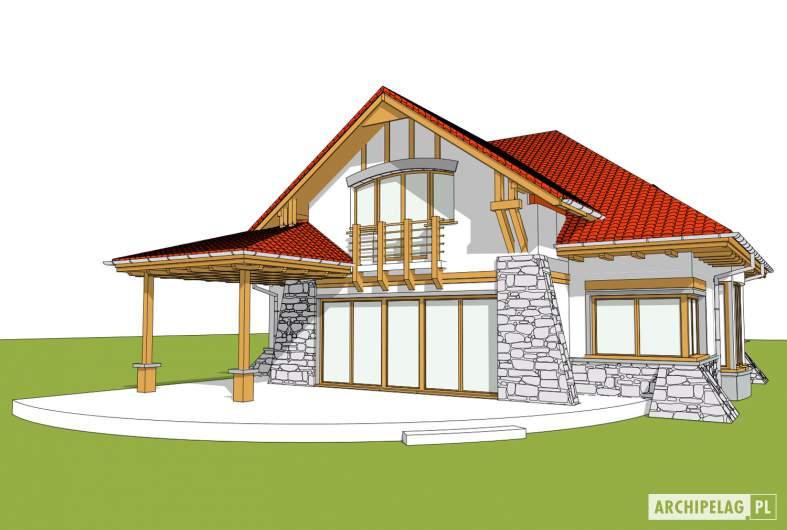 Projekt domu Edek - wizualizacja ogrodowa
