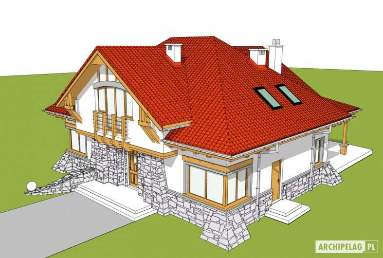 Projekt domu Edek - widok z góry