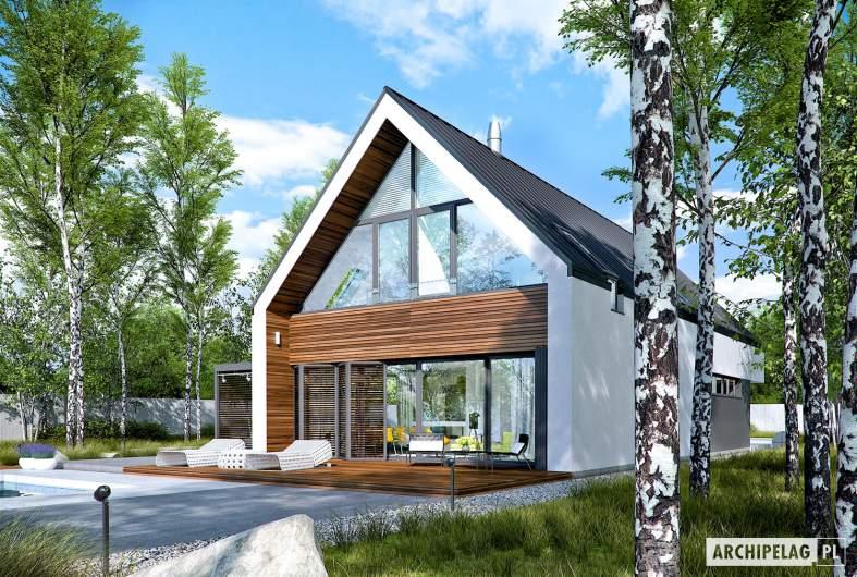Projekt domu EX 19 G2 ENERGO PLUS - wizualizacja ogrodowa