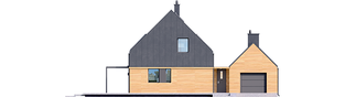 Projekt domu EX 16 G1 MULTI-COMFORT - elewacja frontowa