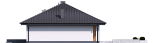Projekt domu Mini 4 - elewacja prawa