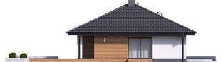 Projekt domu Mini 4 - elewacja lewa