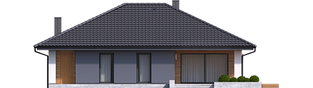 Projekt domu Mini 4 - elewacja tylna