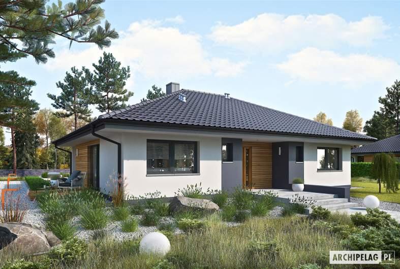 Projekt domu Mini 4 - wizualizacja frontowa
