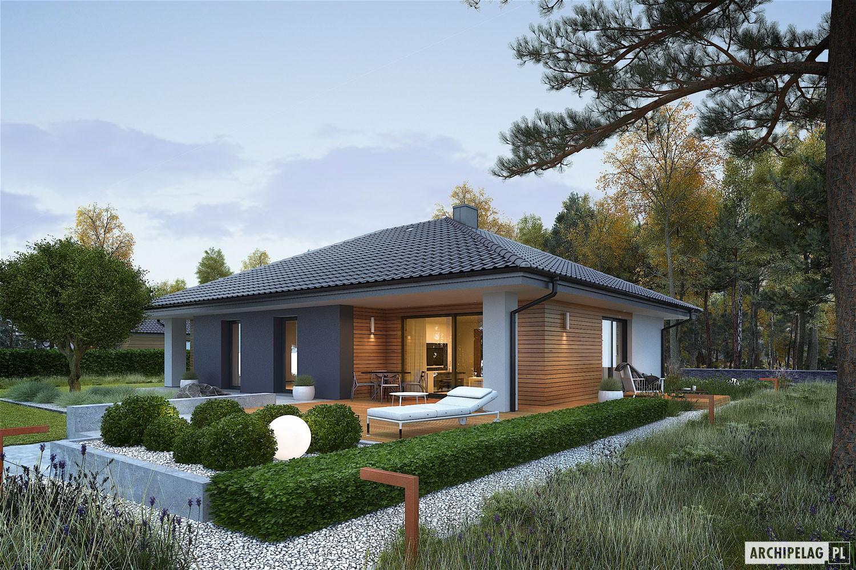 Красивый бюджетный дом с оригинальной террасой