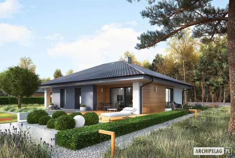 Projekt domu Mini 4 - wizualizacja ogrodowa