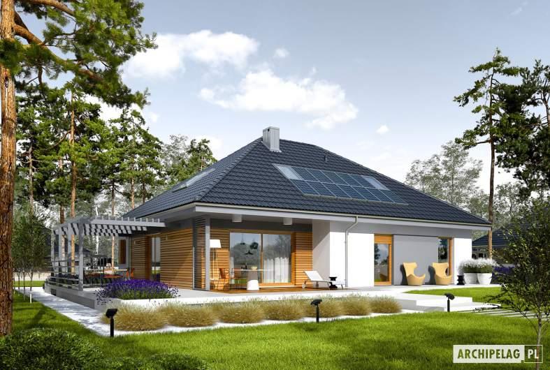 Projekt domu Astrid  II G2 - wizualizacja ogrodowa