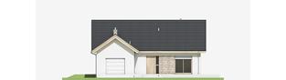 Projekt domu Simon (mały) G1 - elewacja frontowa