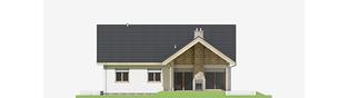 Projekt domu Simon (mały) G1 - elewacja tylna