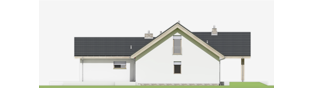 Projekt domu Simon (mały) G1 - elewacja prawa