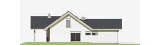 Projekt domu Simon (mały) G1 - elewacja lewa