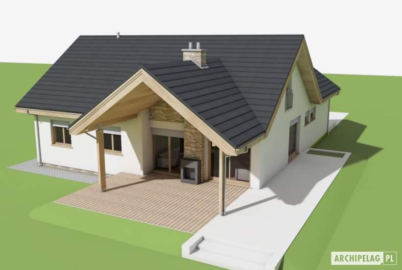 Projekt domu Simon (mały) G1 - widok z góry