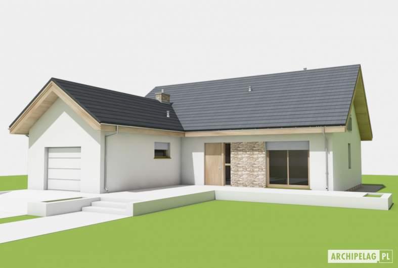 Projekt domu Simon (mały) G1 - wizualizacja frontowa