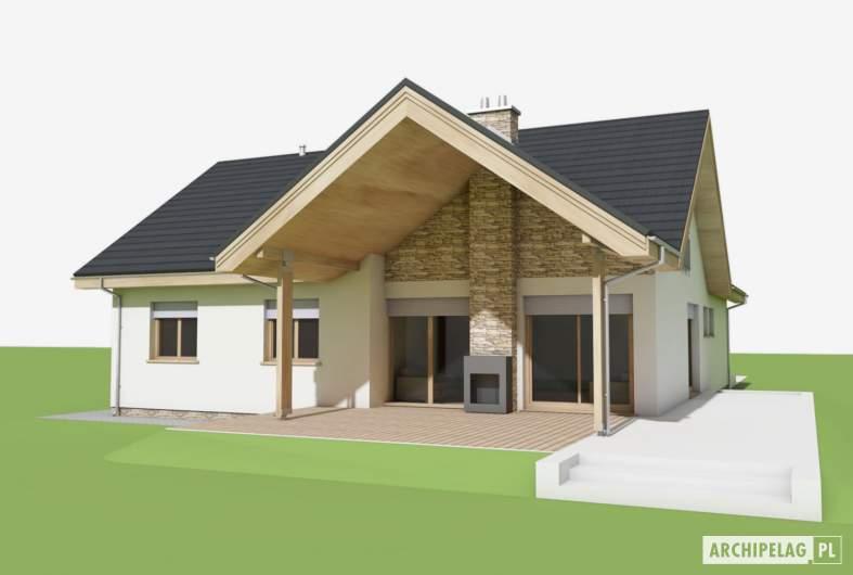 Projekt domu Simon (mały) G1 - wizualizacja ogrodowa