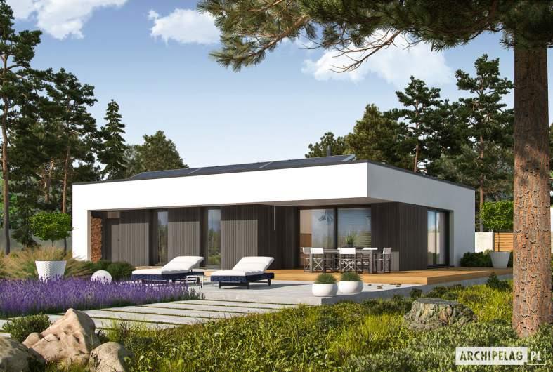 Projekt domu Mini 4 MODERN PLUS - wizualizacja ogrodowa