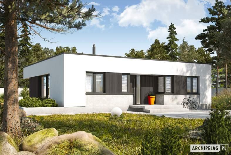 Projekt domu Mini 4 MODERN PLUS - wizualizacja frontowa
