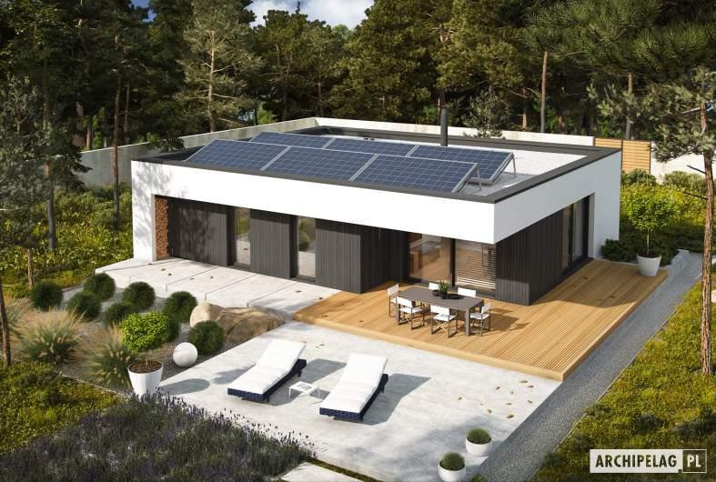 Projekt domu Mini 4 MODERN PLUS - widok z góry