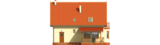 Projekt domu Aga G1 - elewacja tylna