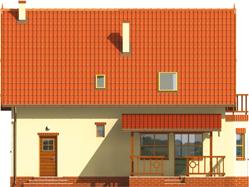 Aga    - Projekty domów ARCHIPELAG - Aga G1 - elewacja tylna