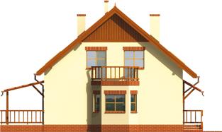 Aga    - Projekty domów ARCHIPELAG - Aga G1 - elewacja lewa