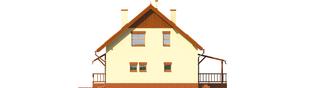 Projekt domu Aga G1 - elewacja prawa