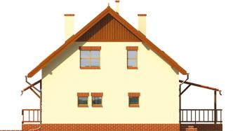 Aga    - Projekty domów ARCHIPELAG - Aga G1 - elewacja prawa