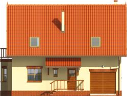 Aga    - Projekty domów ARCHIPELAG - Aga G1 - elewacja frontowa