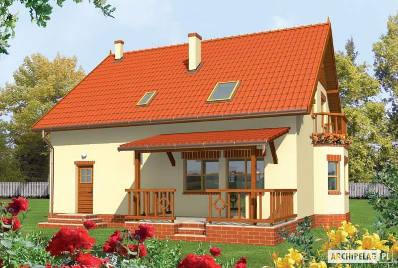 Projekt domu Aga G1 - Projekty domów ARCHIPELAG - Aga G1 - wizualizacja ogrodowa