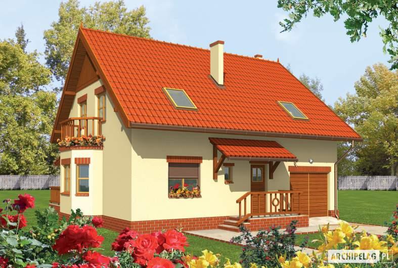 Projekt domu Aga G1 - Projekty domów ARCHIPELAG - Aga G1 - wizualizacja frontowa