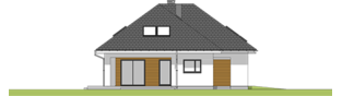 Projekt domu Olaf G2 01 - elewacja lewa
