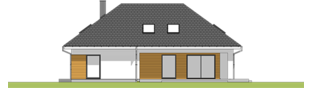Projekt domu Olaf G2 01 - elewacja tylna