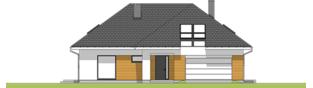 Projekt domu Olaf G2 01 - elewacja frontowa