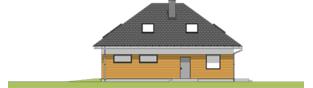 Projekt domu Olaf G2 01 - elewacja prawa