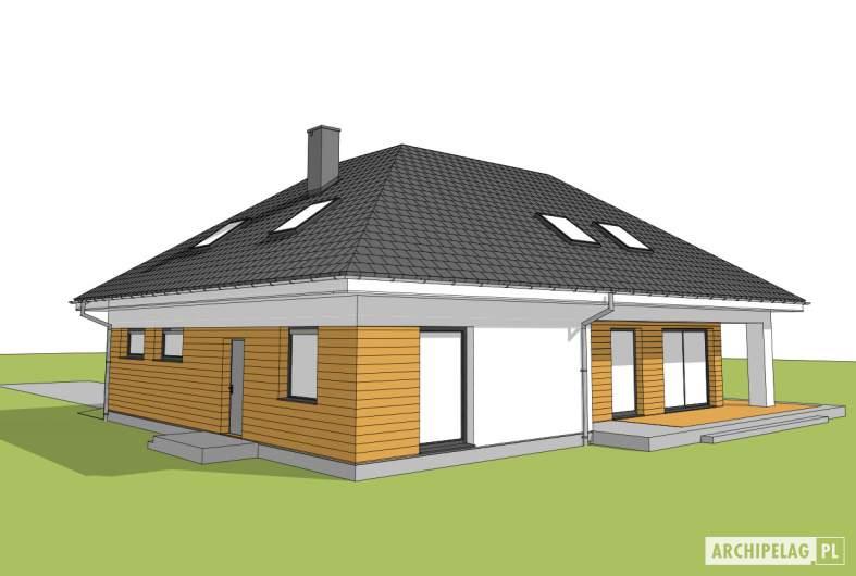 Projekt domu Olaf G2 01 - widok ogrodowy
